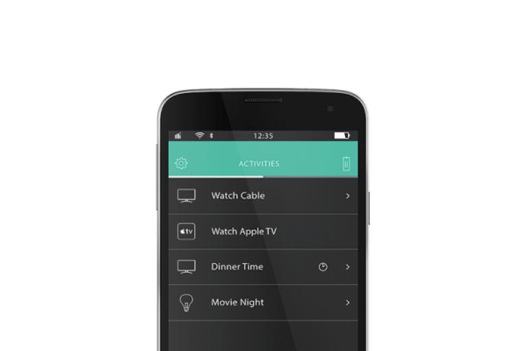 Logitech Harmony Universalsteuerung als App (Bildmaterial: ©Logitech)