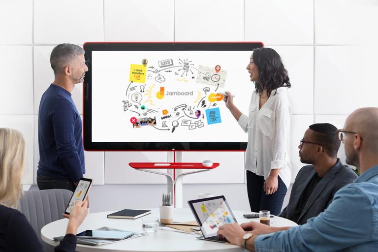 Google Jamboard für Ihr Konferenzraum (Bildmaterial: ©Google)
