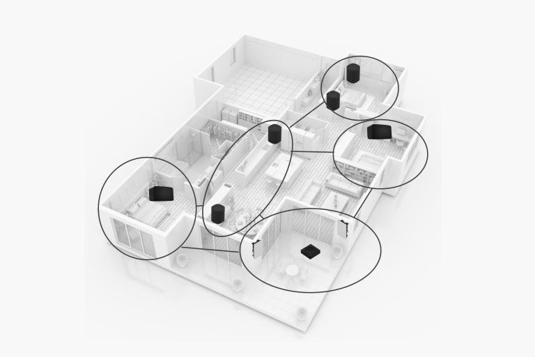 Multiroom-Audio im Privatbereich durch Sonos