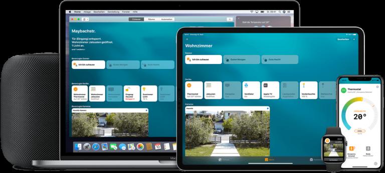 Apple Home zur Steuerung Ihres Smarthomes (Bildmaterial: ©Apple)