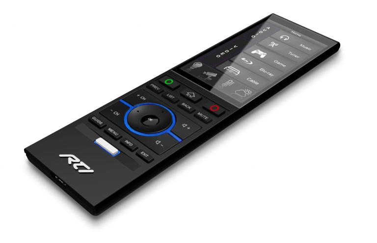 Smarthome Steuerung über eine handfeste RTI T4x Universalfernbedienung (Bildmaterial: ©RTI)